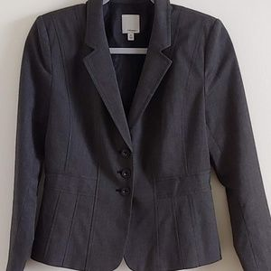 Halogen Charcoal Three-Button Blazer, 6P